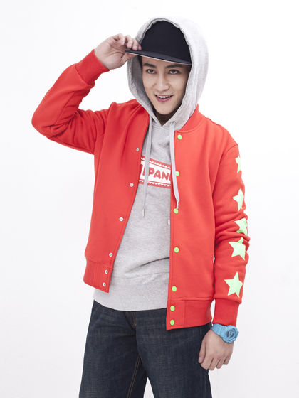 男款红色星星针织棒球衫正品