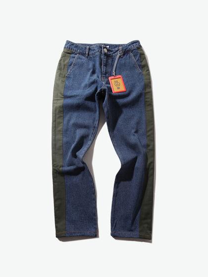 AKOP.|男款|牛仔褲|AKOP. 拼接休閑牛仔褲(韓火火同款)