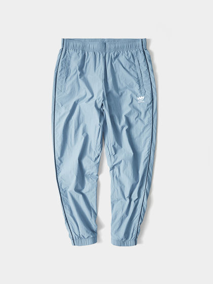 HLAJEANS|黑鲸|男款|休闲裤|黑鲸 格纹刺绣休闲裤