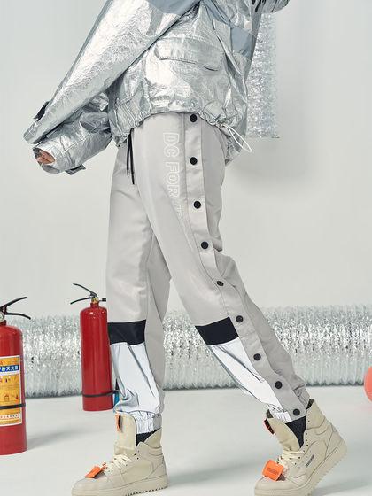 DCFJ DCFJ 男款 运动裤 DCFJ 金属感反光运动裤