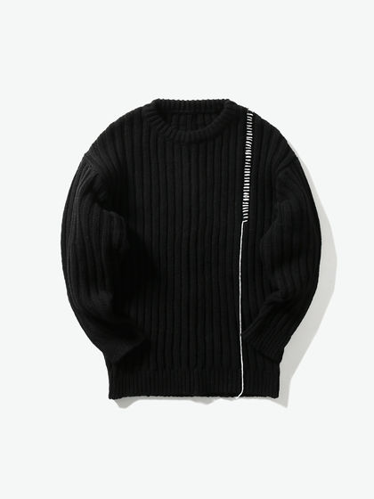 A COLD WALL|A COLD WALL|男款|毛衣/针织|A-COLD-WALL*  KNITTED SHIRT BLACK THREADED WOOL KNIT