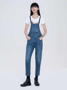 ABLE JEANS|女|ABLE JEANS HELLO KITTY 联名款牛仔连身长裤