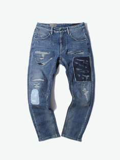 ABLE JEANS|男|女|ABLE JEANS 补丁牛仔长裤